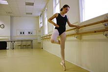 The Dance Space, Ballet Lesson, girl at the barre
